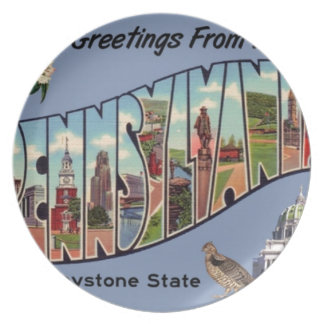 Greetings From Pennsylvania Plate
