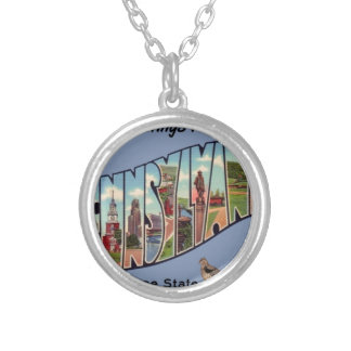 Greetings From Pennsylvania Silver Plated Necklace