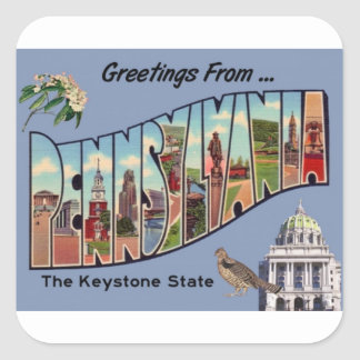 Greetings From Pennsylvania Square Sticker