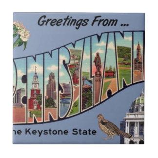 Greetings From Pennsylvania Tile