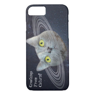 Greetings From Planet Caturn Funny Phone Case