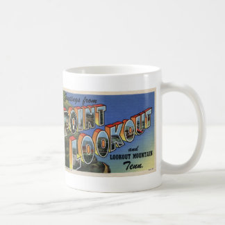 Greetings from Point Lookout Vintage Postcard Mug