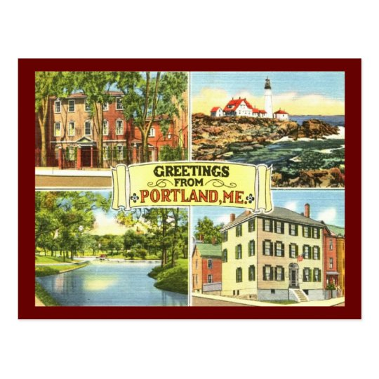Greetings from Portland, Maine Vintage Postcard