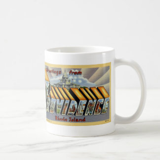 Greetings from Providence Vintage Postcard Mug