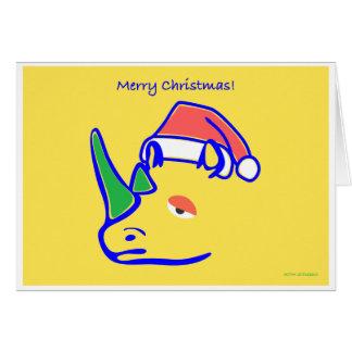 Greetings from Rhino's Santa Card