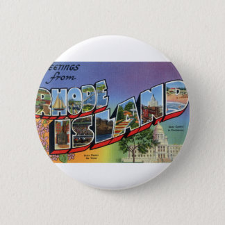 Greetings From Rhode Island 2 Inch Round Button