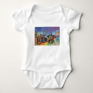 Greetings From Rhode Island Baby Bodysuit