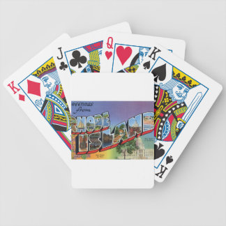 Greetings From Rhode Island Bicycle Playing Cards
