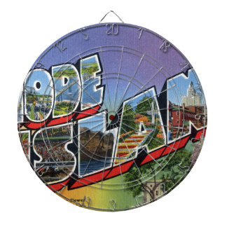 Greetings From Rhode Island Dartboard