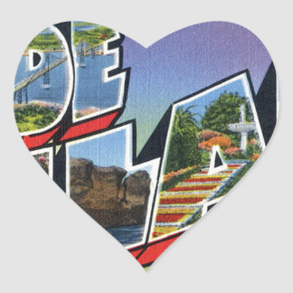 Greetings From Rhode Island Heart Sticker