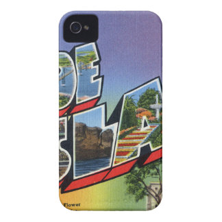 Greetings From Rhode Island iPhone 4 Case-Mate Cases
