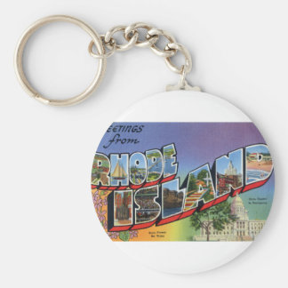 Greetings From Rhode Island Keychain