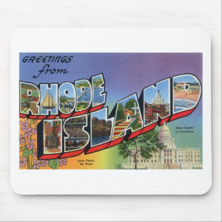 Greetings From Rhode Island Mouse Pad