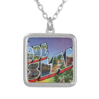 Greetings From Rhode Island Silver Plated Necklace