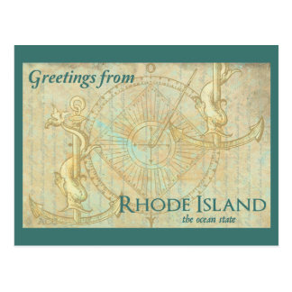 Greetings from Rhode Island the ocean state Postcard