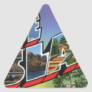 Greetings From Rhode Island Triangle Sticker