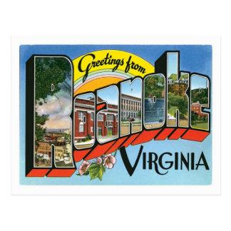 Greetings From Roanoke Virginia US City Postcard