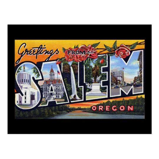 Greetings from Salem Oregon Postcard