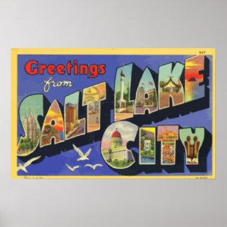 Greetings From Salt Lake City, Vintage Posters