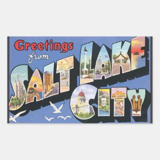 Greetings From Salt Lake City, Vintage Sticker