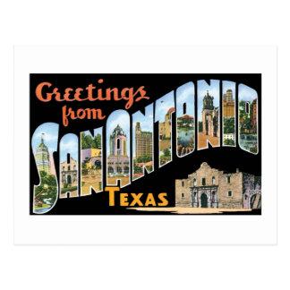 Greetings from San Antonio, Texas! Retro Post Card