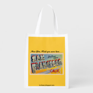 Greetings from San Francisco Reusable Grocery Bag