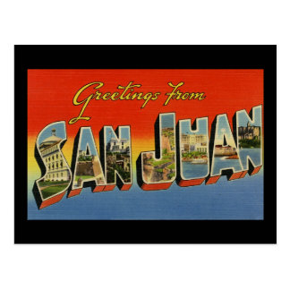 Greetings from San Juan Postcard