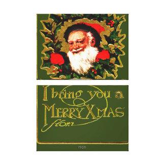 Greetings From Santa Claus Canvas Print
