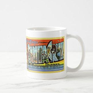 Greetings from Santa Cruz Vintage Postcard Mug