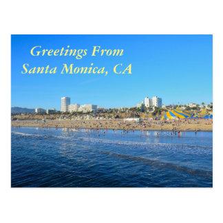 Greetings From Santa Monica California Postcard