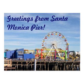 Greetings from Santa Monica Pier Postcard