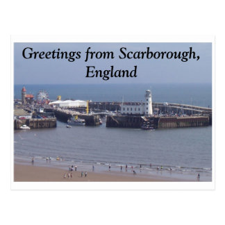 Greetings from Scarborough, England Postcard