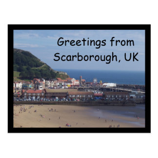 Greetings from Scarborough, UK postcard