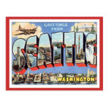 Greetings From Seattle, Washington USA Post Card