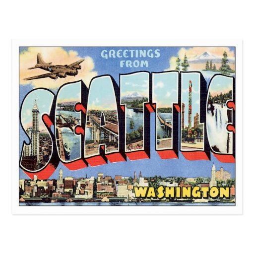 Greetings From Seattle, Washington USA Post Cards