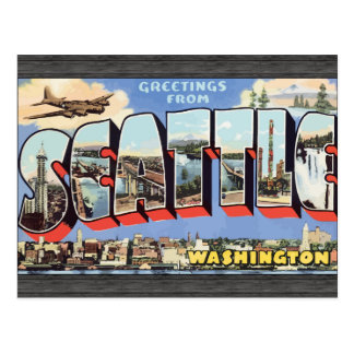 Greetings From Seattle Washington, Vintage Postcard