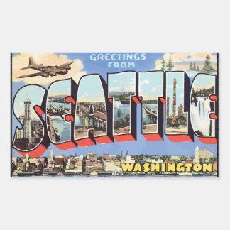 Greetings From Seattle Washington, Vintage Sticker
