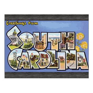 Greetings From South Carolina, Vintage Postcard