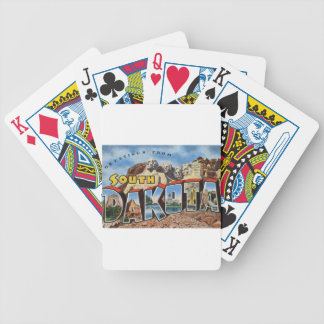 Greetings From South Dakota Bicycle Playing Cards