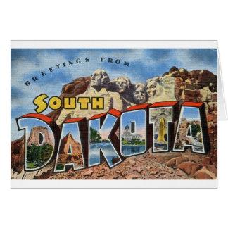 Greetings From South Dakota Card