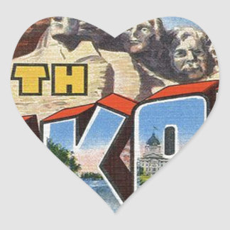 Greetings From South Dakota Heart Sticker
