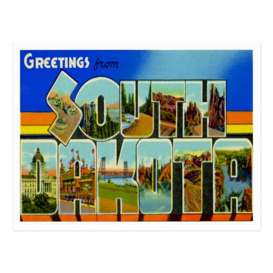 Greetings From South Dakota Postcard