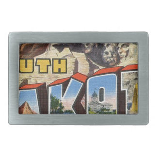 Greetings From South Dakota Rectangular Belt Buckle