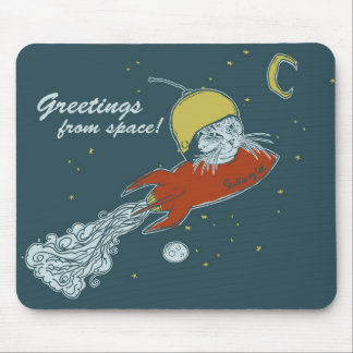greetings from space - somc mousepad