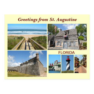Greetings from St. Augustine, Florida Postcard