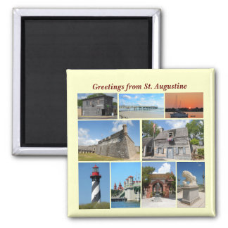 Greetings from St. Augustine, Florida Square Magnet