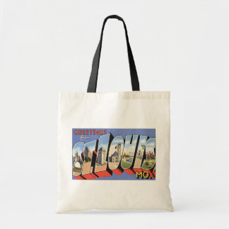 Greetings From St. Louis, Mo., Vintage Tote Bag