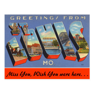 Greetings from St. Louis Postcard