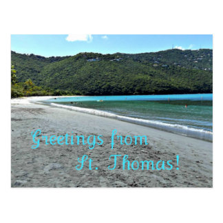Greetings from St. Thomas Postcard