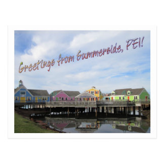 Greetings from Summerside, PEI! Postcard